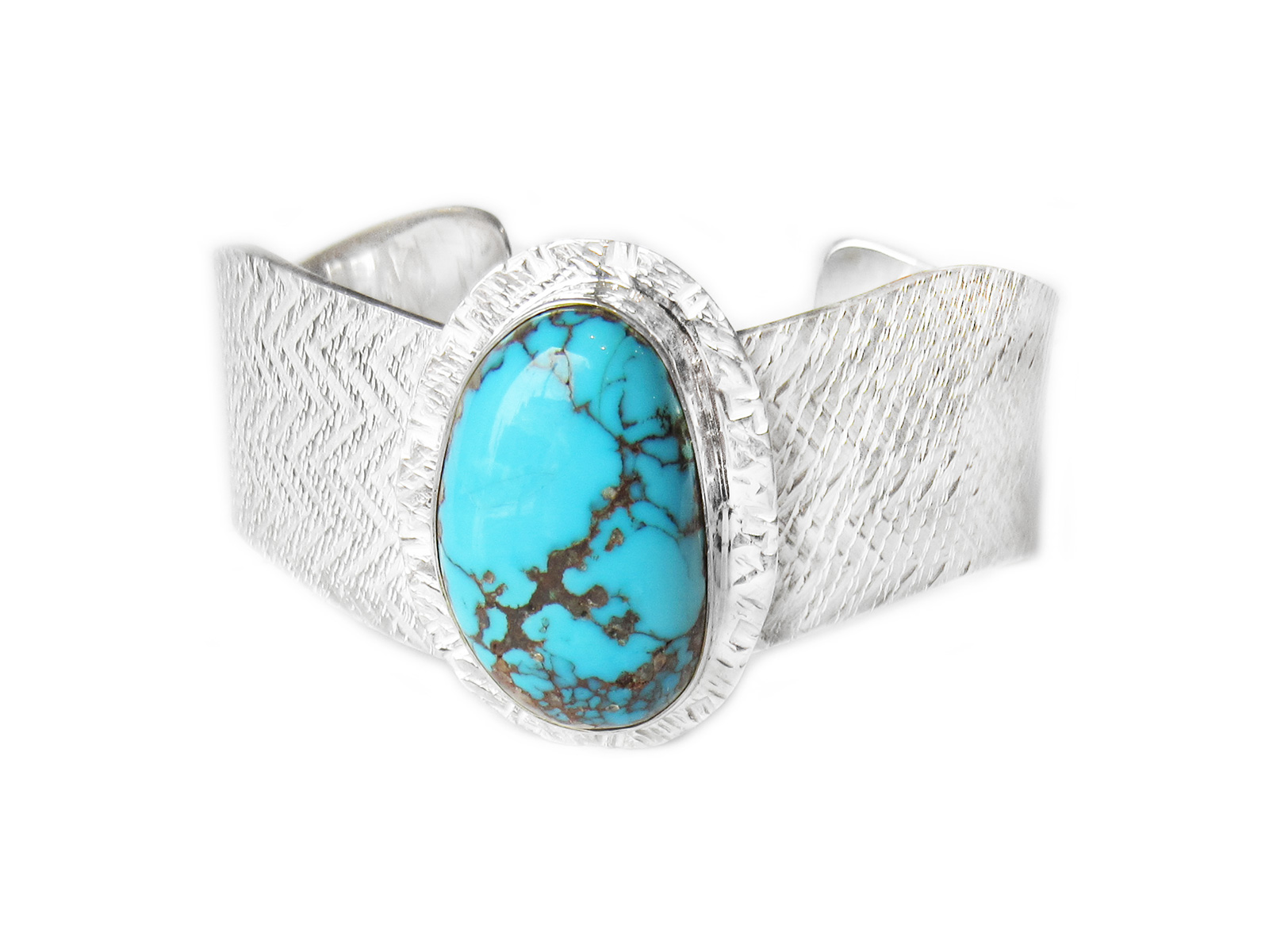 Silver Cuff with Turquoise