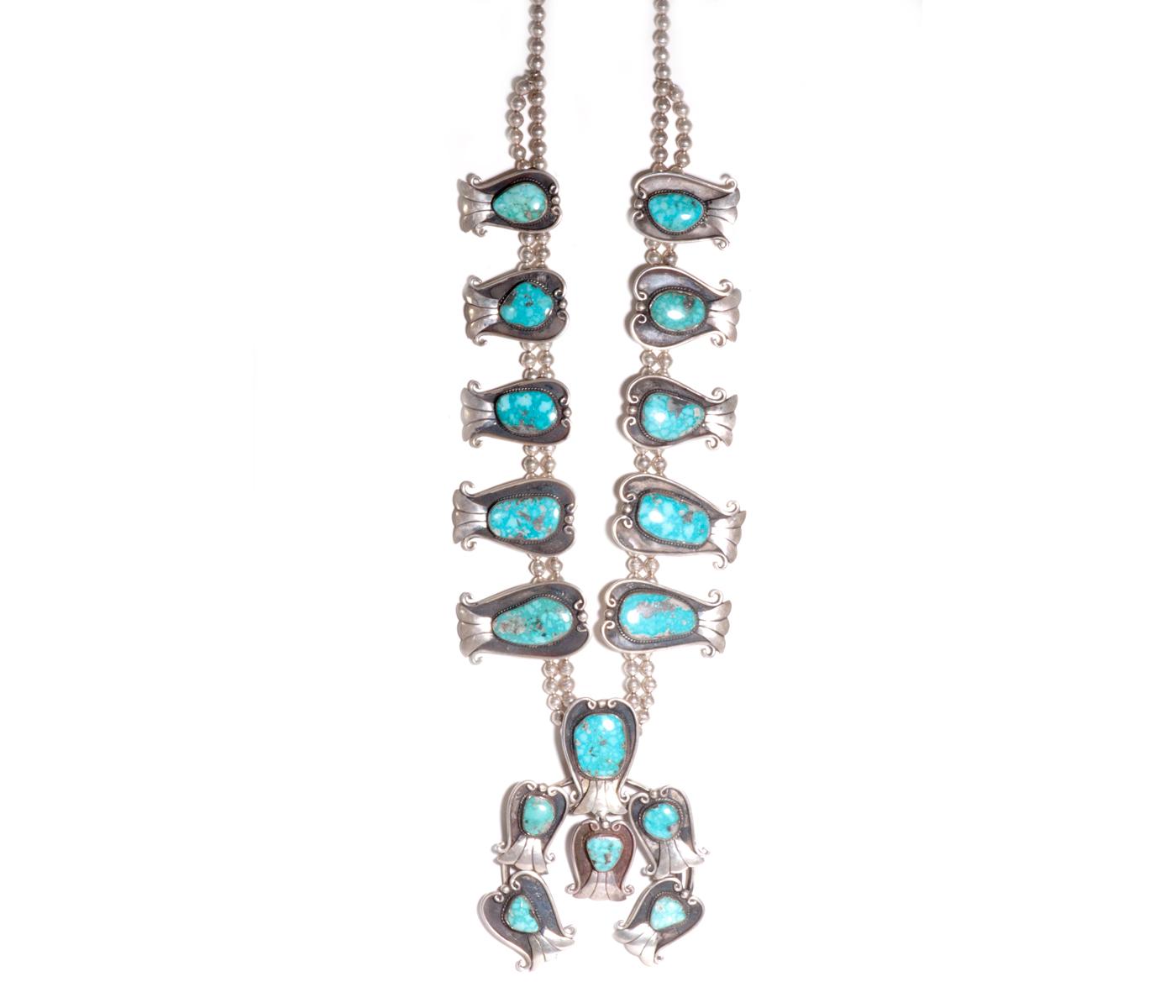 Vintage Squash Blossom Necklace