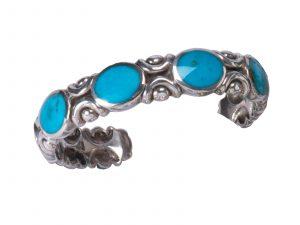 Gem Quality Blue Gem Turquoise Stone Bracelet