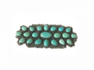 Number 8 Turquoise Cluster Pin Pendant
