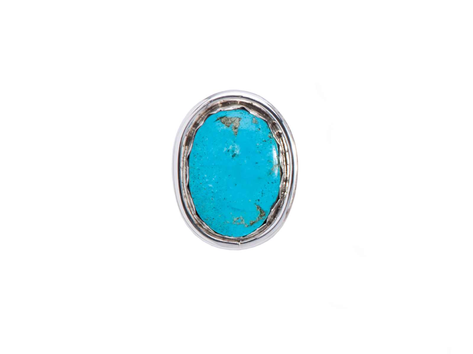 Large Kingman Turquoise Oval Ring