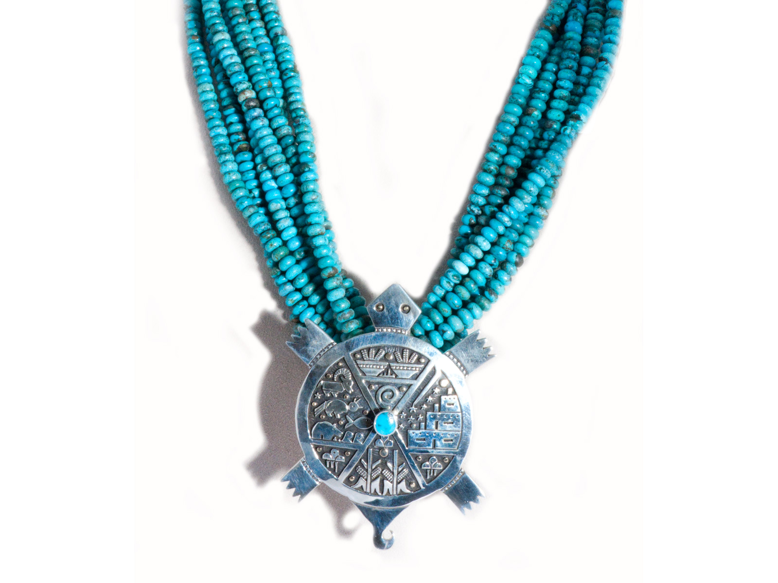 Ithaca Peak Turquoise Turtle Necklace