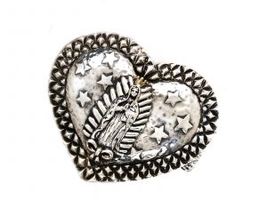 Virgin of Guadalupe Heart Cuff