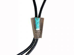 Bolo Tie with Kingman Turquoise Stone