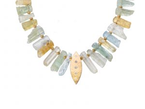Brazilian Beryl Shard Necklace by Miles Standish